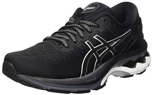 ASICS Damen Gel-Kayano 27 Road Running Shoe, Black/Pure Silver, 41.5 EU