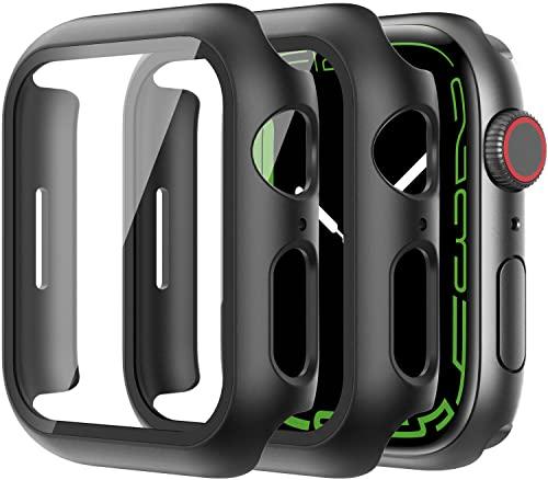 Diruite 2-Stück Hülle für Apple Watch Series 7/6/5/4/SE Panzerglas Schutzhülle,Hard PC Rundum Displayschutz Ultradünne Schutz Case für iWatch Series 7/6/5/4/SE