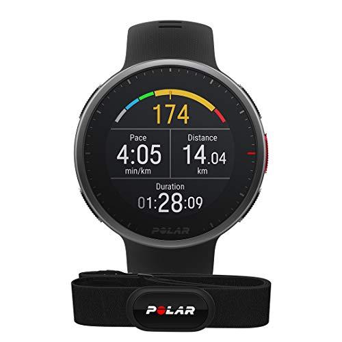 Polar Vantage V2 und H10 – Premium Multisportuhr GPS Smartwatch – Pulsmessung am Handgelenk für Laufen, Schwimmen, Radfahren – Musiksteuerung, Wettervorhersage, Smart Notifications