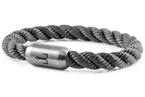Fischers Fritze® Segeltau Armband MAKRELE 2.0' Grau Gedreht, 21.0