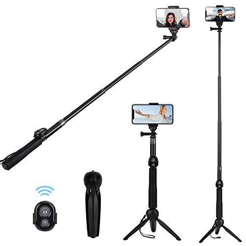 Bluetooth Selfie Stick Stativ, Alfort Universal Smartphone Stativ Selfie Stab Stange mit Bluetooth Fernsteuerung und Abnehmbares Stativ für iPhone /Galaxy und andere Smartphones/GOPRO / DLSR Kamera
