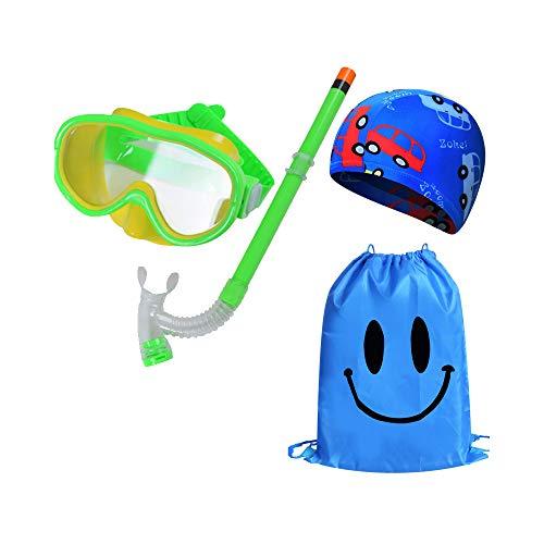 HYRL Kinder Schwimmen Tauchen Brille Schnorchelausrüstung Set Silikon Scuba Schwimmen Silikon Scuba Schwimmen,C
