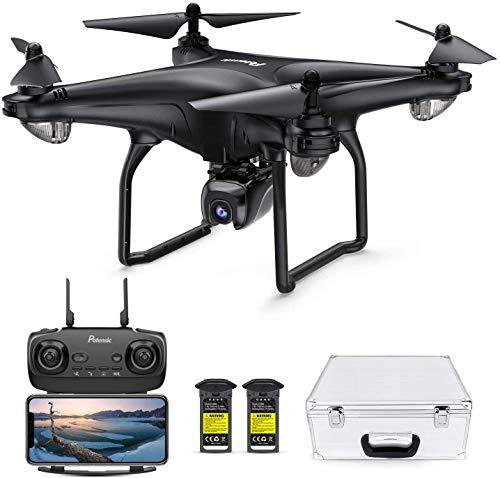 Potensic D58 Drohne mit 4K Kamera für Erwachsene, 5G WiFi HD Live Video, GPS Auto Return, RC Quadcopter für Erwachsene, tragbares Gehäuse, 2 Akkus, Follow Me, Easy Selfie Anfänger und Experten-Upgrade
