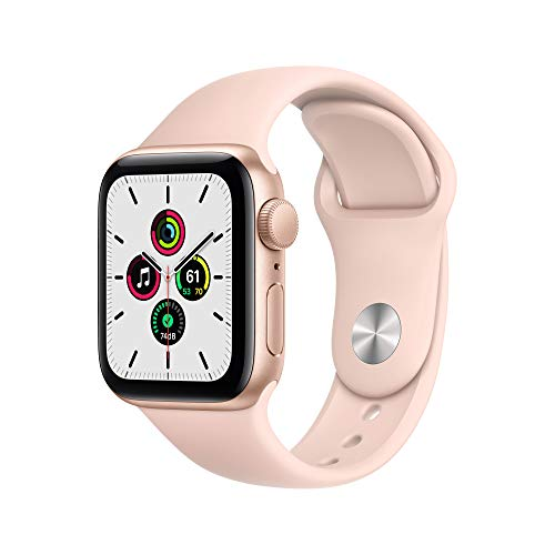 Neu Apple Watch SE (GPS, 40 mm) Aluminiumgehäuse Gold, Sportarmband Sandrosa