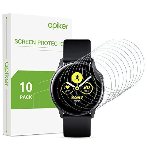 apiker [10 Stück] TPU Schutzfolie für Samsung Galaxy Watch Active 2 40mm / Galaxy Watch Active 40 mm, vollständige Abdeckung,Ultra-dünn,Anti-Fingerabdruck,Anti-Schmutz,Anti-Reflex,Hoch Transparenz