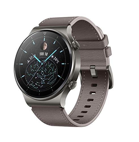 HUAWEI WATCH GT 2 Pro Smartwatch, 1,39 Zoll AMOLED HD-Touchscreen, 2 Wochen Akkulaufzeit, GPS & GLONASS, SpO2, 100+Trainingsmodi, Bluetooth-Anrufe, Herzfrequenzmessung, Nebula Grey