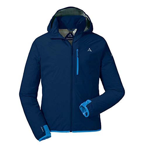 Schöffel Herren Jacket Toronto4 Wind-und wasserdichte Jacke Kapuze, atmungsaktive und verstaubare Hardshelljacke für Männer, Dress Blues, 48
