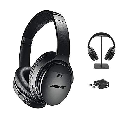 Bose ® QuietComfort 35 Wireless Kopfhörer II + Kopfhörer Ständer + Airline-Adapter, schwarz