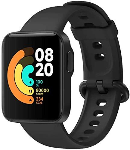 Xiaomi Mi Watch Lite Sport-Smartwatch, HD-Display, 1,4 Zoll, Schlafüberwachung, 6-Achsen-Gyroskop, 7 Sportmodi, Monitor 24/7, 5 ATM, Schwarz