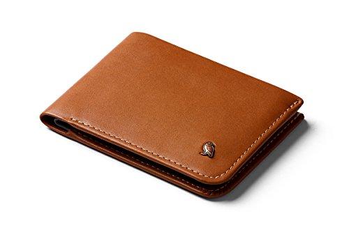 Bellroy Hide & Seek Wallet, Schlanke Faltbare Leder Brieftasche mit RFID-Schutz und Geheimfach (Max. 12 Karten, Bargeld, Münzfach) - Caramel