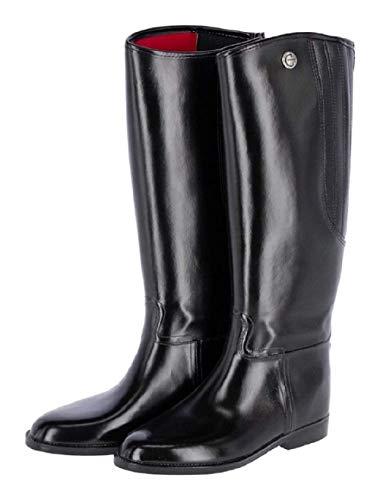 Kerbl Damen Reitstiefel Flexo, PVC Gummi Stiefel Gummireitstiefel, schwarz 37