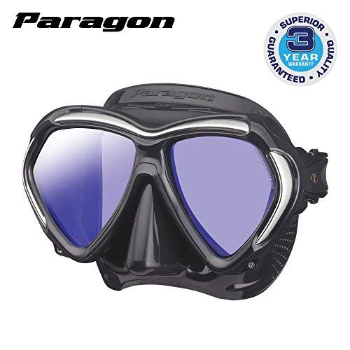 Tusa Paragon taucherbrille tauch-maske - schwarz/silber