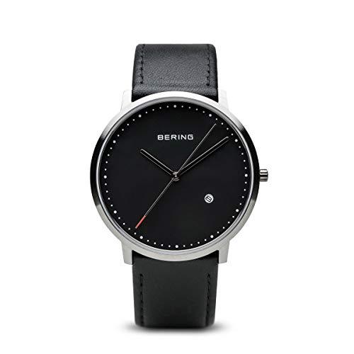 BERING Unisex-Armbanduhr Analog Quarz Leder 11139-402