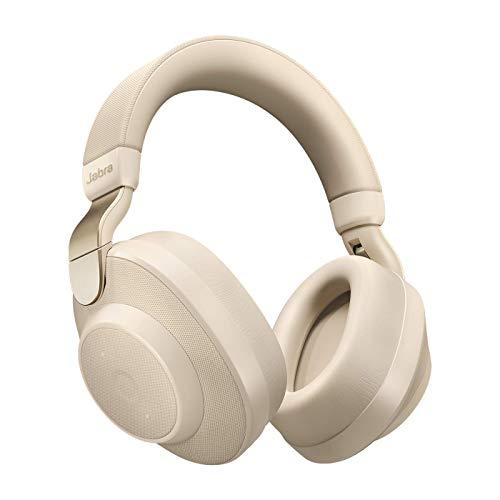 Jabra Elite 85h Bluetooth Active Noise Cancelling Kopfhörer (Over Ear, bis zu 36 Std. Akkulaufzeit mit ANC, SmartSound Technologie, Sprachsteuerung, Alexa, Siri, Google Assistant) gold beige