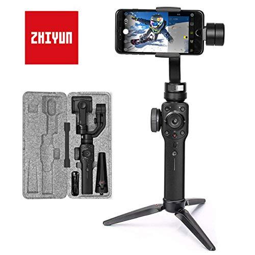 Zhiyun Smooth 4 Smartphone Gimbal Handy Stabilisator 3-Achsen Handheld Stabilizer bis zu 210g für iPhone 11 Pro (Kein Max) X XS Max XR 8 7 Plus SE, Samsung S10 9 8 7+ Note, Huawei P30 Mate 20