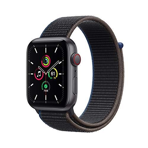 Neu AppleWatch SE (GPS+ Cellular, 44mm) Aluminiumgehäuse Space Grau, Sport Loop Kohlegrau