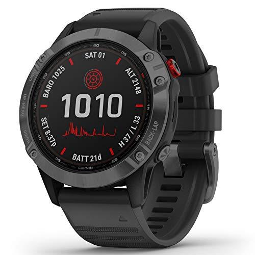 Garmin Fenix 6 Pro Solar Smartwatch Schwarz/Schiefergrau 010-02410-15