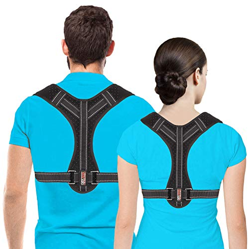Haltungskorrektur für Damen und Herren, Stützbandage für Schlüsselbein, verstellbarer Rückenglätter und Schmerzlinderung von Nacken, Rücken und Schultern (universell) (normal)