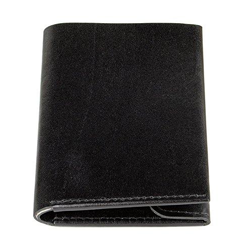 MAKOMME Slim Classic Made in Germany – Kompakte und praktische Mini-Geldbörse mit Münzfach aus Echtleder für Herren und Damen – kleines dünnes Slim Wallet Portemonnaie Portmonee Geldbeutel (braun)