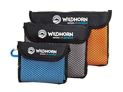 Wildhorn Outfitters Microlite Reisehandtuch-Set für Camping, Wandern & Backpacking Handtuch Set aus schnelltrocknenden Microfasern - Große, mittlere und kleine Größen inklusive.