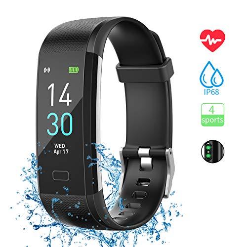 Fitness Armband mit Pulsmesser, Sportuhr Smartwatch Wasserdicht IP68 Fitness Tracker Farbbildschirm Aktivitätstracker Pulsuhren Schrittzähler Uhr für Damen Herren