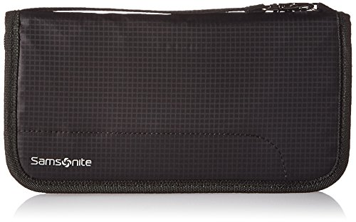 Samsonite RFID-Reiseportemonnaie mit Reißverschluss, Schwarz, Einheitsgröße