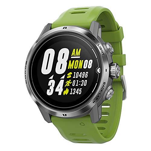 COROS APEX Pro Premium Multisport-GPS-Uhr mit Herzfrequenzmesser, 40-Stunden-GPS-Vollbatterie, Blutsauerstoffüberwachung rund um die Uhr, Saphirglas, Barometer, ANT + & BLE (Silber)