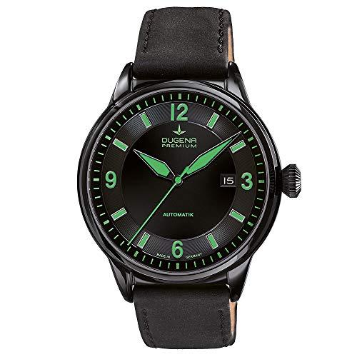 Dugena Herren Automatik-Armbanduhr, Saphirglas, Uhrwerk mit 24 Steinen, Kappa 1, Schwarz/Grün, 7000301