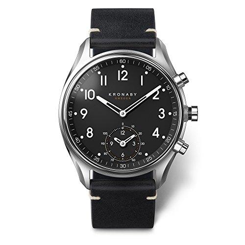 KRONABY APEX Herren Connected Uhren A1000-1399 eine traditionelle Uhr mit Smartwatch Funktionalitäten 43 mm Gehäusedurchmesser Saphirglas 100 M wasserdicht