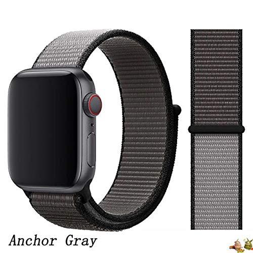 Stoffe-Monster für Apple Watch Armband Sport Loop eisengrau anchorgrey 38mm / 40mm