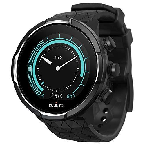 Suunto 9 Baro GPS-Sportuhr mit langer Batterielaufzeit und Herzfrequenzmessung am Handgelenk, Titanium, SS050145000