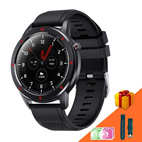 AneyWell Smartwatch - Schlafmonitor Fitness Tracker mit Pulsuhren/Blutsauerstoff/Blutdruckmessgeräte, IP68 Wasserdichter Armbanduhr{15 Sportmodus} 1.3' Touchscreen Sportuhr für Männer Frauen Kinder