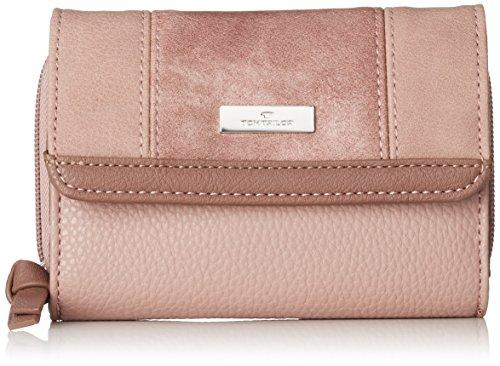 TOM TAILOR Portemonnaie Damen Juna, Rot (Rose), 4x10x14 cm, Tom Tailor Geldbörsen Damen, Geldbeutel