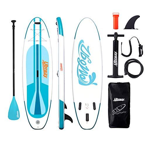 Signstek Stand Up Paddling Board Aufblasbares SUP Board Set Aufblasbar 305 * 80 * 15 cm 200KG Paddle Surfboard Stabiles Leichtgewicht Komplettes Zubehör Paddel Hochdruck-Pumpe Rucksack