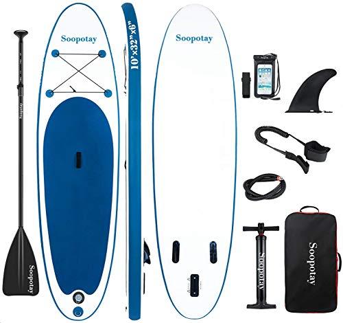 BATURU aufblasbares SUP Board, Stand-up Paddle Board, Sup Paddleboard 305 x 81 x 15 cm,iSUP Paket mit allem Zubehör (Navy blau)