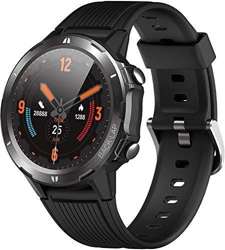 orit Smartwatch Bluetooth v5.0 5ATM Wasserdicht Fitness Tracker Armband Aktivitätstracker mit Schrittzähler Stoppuhr Pulsuhren Schlafmonitor für iOS Android Phone für Damen Herren Smartwatch Sport