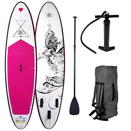 Stand Up Paddle Paddling SUP Board Damenboards Kolibri 300x76x15cm aufblasbar Alu-Paddel Pumpe Rucksack gewebtes Drop-Stitch 115KG