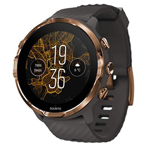 SUUNTO 7, Smartwatch für Sport und Alltag, Unisex, Grau/Kupfer, Stahl/Polyamid, Silikon-Armband, Touchscreen, Gorilla-Glas, SS050382000
