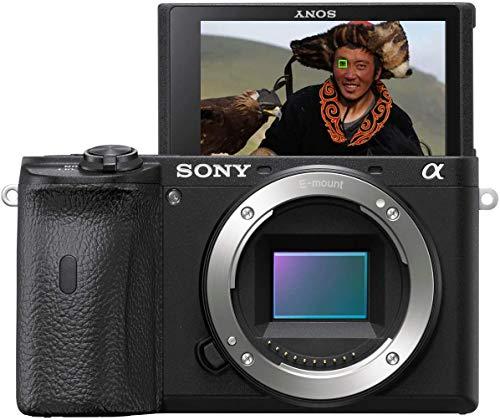 Sony Alpha 6600   APS-C Spiegellose Kamera ( Schneller 0,02s Autofokus, optische 5-Achsen-Bildstabilisierung im Gehäuse, 4K HLG Videoaufnahmen, neigbares Display für Vlogging)