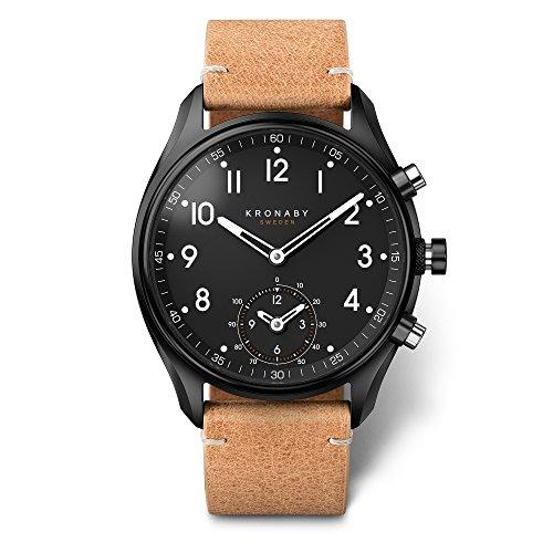 KRONABY APEX Herr Connected Uhren A1000-0730 eine traditionelle Uhr mit Smartwatch Funktionalitäten 43mm Gehäusedurchmesser Saphirglas 100 M wasserdicht