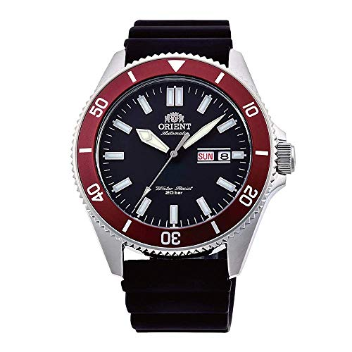 Orient Herren Analog Automatik Uhr mit Gummi Armband RA-AA0011B19B