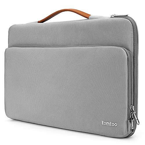 """tomtoc Laptop Aktentasche Hülle kompatibel mit 2020 Neu MacBook Air 13,3"""" mit Retina, Neu MacBook Pro 13"""" USB-C, Neu iPad Pro 12,9"""" mit Liquid Retina und Dell XPS 13, Notebook Schutz Tagetasche"""