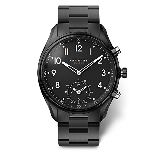 KRONABY APEX Herren Connected Uhren A1000-0731 eine traditionelle Uhr mit Smartwatch Funktionalitäten 43 mm Gehäusedurchmesser Saphirglas 100 M wasserdicht