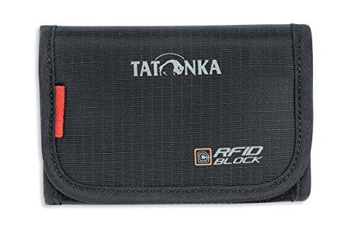 Tatonka Unisex– Erwachsene Geldbeutel Folder RFID B, Black, 9 x 12 x 2 cm