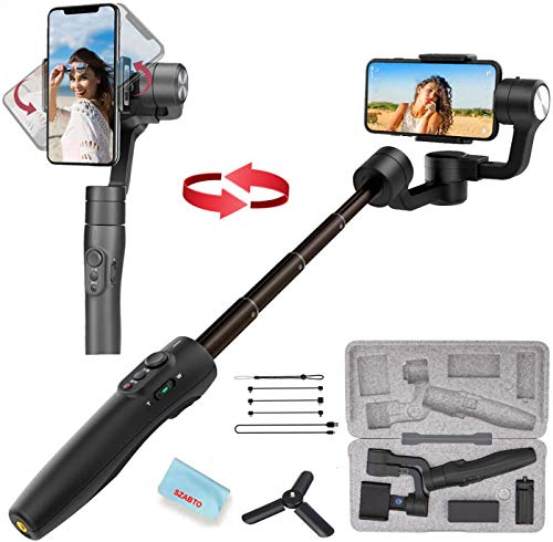 FeiyuTech Vimble 2S 3-Axis Handheld Gimbal Stabilizer for iPhone 11 Pro Xs Max XR X Smartphone Samsung Galaxy Note10/10+ S10 S9 POV Hitchcock Panorama Face Object Tracking Timelapse(Vimble 2 Upgraded)