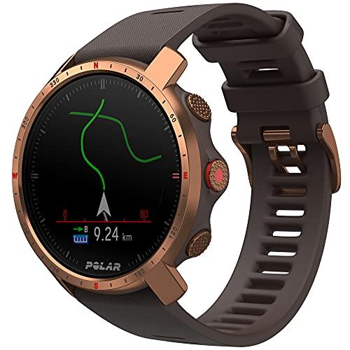 Polar Grit X Pro – GPS-Multisportuhr – Strapazierfähigkeit auf Militärstandard, Saphirglas, Pulsmessung am Handgelenk, Lange Akkulaufzeit, Navigation – Ideal für Outdoorsport, Geländelauf, Wandern
