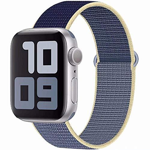SSEIHI Kompatibel mit Apple Watch Armband mit 38mm 40mm 42mm 44mm, Nylon Sport Armband Ersatzband Kompatibel Iwatch Series5,Series4,Series3,Series2,Series1