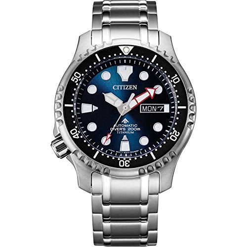 CITIZEN Herren Analog Automatik Uhr mit Super Titanium Armband NY0084-89EE