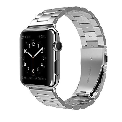 PINHEN Armband Kompatibel mit Apple Watch Armband 40mm 38mm - Rostfreier Edelstahl Uhrenarmband Ersatz Armbänder Kompatibel für 38mm 40mm Series 6/SE/5/4/3/2/1 (38/40mm, Silver)