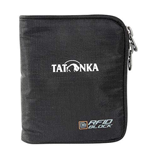 Tatonka Zip Money Box RFID B - Geldbörse mit RFID-Blocker - TÜV-geprüft - Bietet Platz für 4 Kreditkarten, mit Münzgeldfach und extra Reißverschlussfach im Inneren - Schützt vor Datenklau